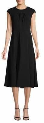 Diane von Furstenberg Cap-Sleeve Fit--Flare Dress