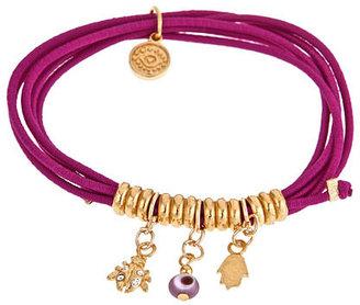 Blee Inara Goldtone Beaded Charm Bracelet