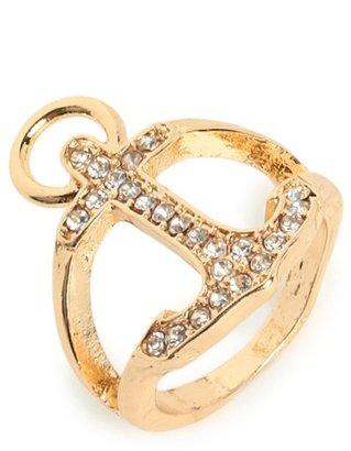 BaubleBar Gold Anchor Ring