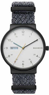 Skagen Three Hand Ancher Gray NATO Day-Date Watch