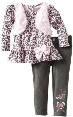 Nannette Baby-Girls Infant 2 Piece Leopard Pant Set