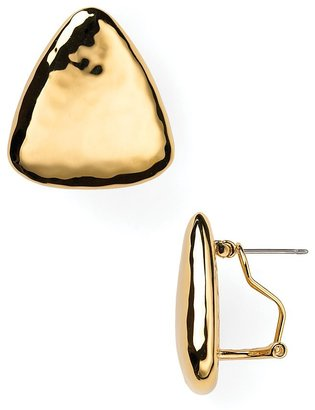 Nadri Medium Gold Triangle Earrings