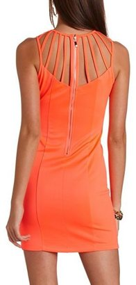 Charlotte Russe Caged Scuba Body-Con Dress