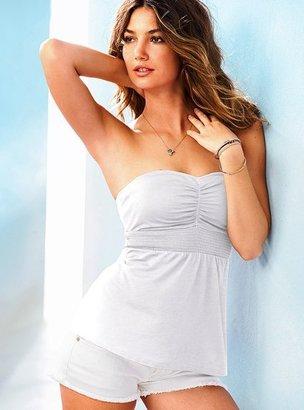 Victoria's Secret Smocked Lightly Padded Bra Top