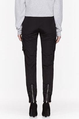 Alexander Wang Black Nylon Cargo Pants