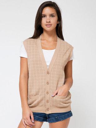 American Apparel Unisex Knit Long Grid Vest