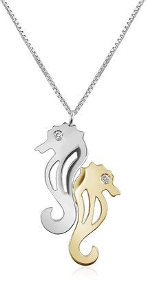 Forzieri Diamond & 18K Gold Seahorses Pendant Necklace