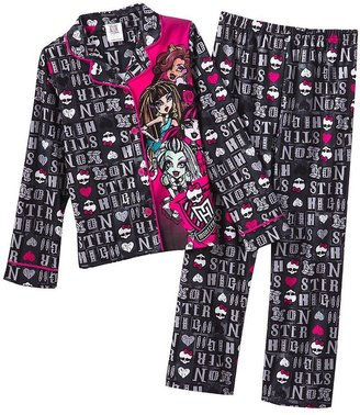Monster high letter pattern 2-pc. pajama set - girls