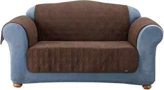 Sure Fit Quilted Suede Sofa Pet Furniture Cover
