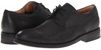 Clarks Burns Easy (Black Leather) - Footwear