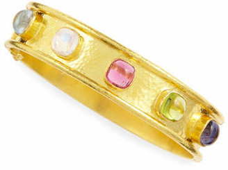 ff4eb7c8a Elizabeth Locke Tutti Frutti Stone-Studded 19k Gold Bangle