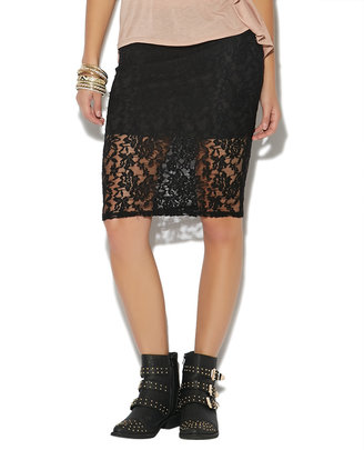 Wet Seal Lace Midi Skirt