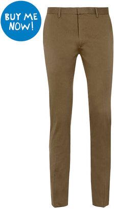 Topman Khaki Ultra Skinny Dress Pants