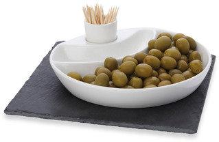 Maxwell & Williams Maxwell & Williams™ White Basics Slate 3-Piece Square Olive Dish