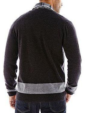 Claiborne Merino Wool Cardigan Sweater