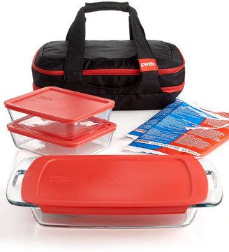 Pyrex Portable Easy Grab Double Decker 9 Piece Food Storage Container Set