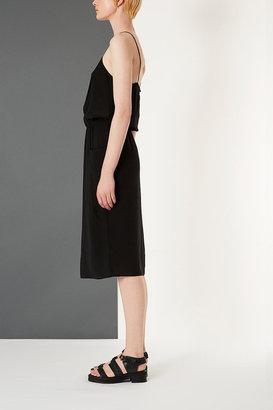 Topshop Silk Midi Pocket Dress By Boutique