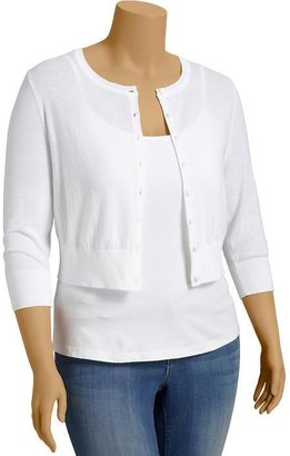 Old Navy Women's Plus Cropped Button-Front Cardis