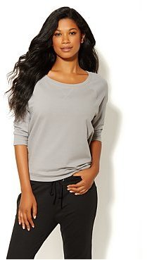 New York & Co. Love NY&C Collection - Zipper-Back Sweatshirt