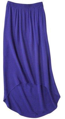 Merona Women's Front Pocket Hi/Lo Hem Maxi Skirt - Assorted Colors