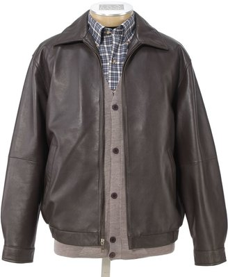 Jos. A. Bank Executive Leather Jacket Big and Tall Sizes