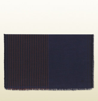 Gucci Wool And Silk Stole