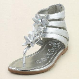 Children's Place Flower gladiator sandal