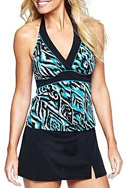JCPenney Jamaica Bay® Kimono Halterkini Swim Top or Skirt