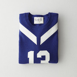 Sea varsity embroidered pullover