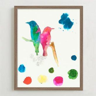 west elm Framed Print - Bird Sketches # 1
