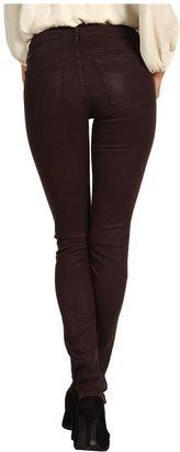 Juicy Couture Coated Skinny Jean in Dark Cabernet (Dark Cabernet) - Apparel