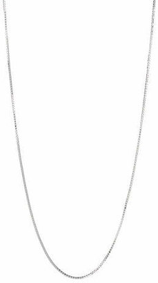 HBC ETEREO Sterling Silver Box Chain Necklace-24'