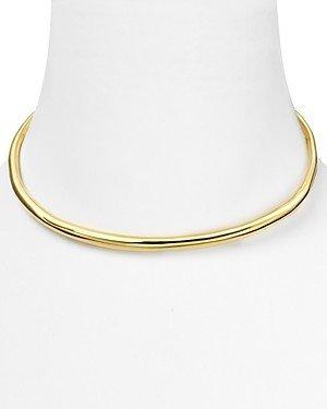 Alexis Bittar Miss Havisham Liquid Gold Collection Thin Necklace