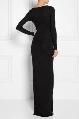 DKNY Wrap-effect jersey maxi dress
