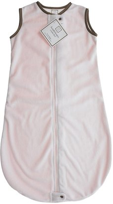 Swaddle Designs Zzzipme Sack Solid Baby Velvet with Mocha Trim, Pink/Mocha, 6-12 Months
