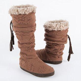 Muk Luks winona texture cuff bootie slippers