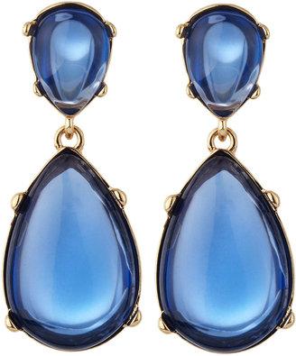 Kenneth Jay Lane Cabochon Teardrop Earrings, Blue