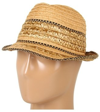 BCBGMAXAZRIA Textured Shine Fedora Traditional Hats