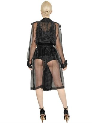 Jean Paul Gaultier Techno Organza Trench Coat