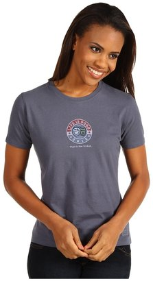 Life is Good That's The Ticket Crusher Tee (True Blue) - Apparel