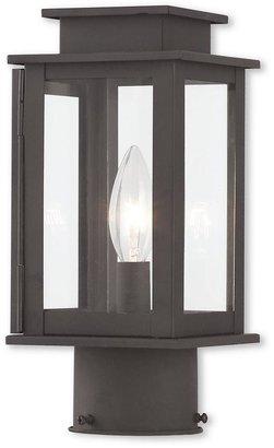 Livex Lighting Princeton 1-Light Outdoor Bronze Post Light