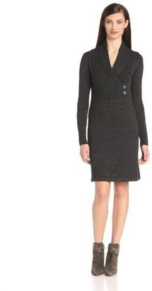 Evan Picone Women's Shawl Collar Easy Fit A-Line Dress