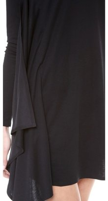 Maison Martin Margiela V Neck Long Sleeve Dress