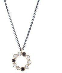 Jamie Joseph Black and White Diamond Circle Necklace