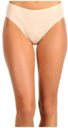 Hanro Cotton Seamless Hi-Cut Full Brief 1626 (Black) Women's Underwear