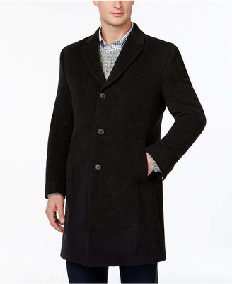 Tommy Hilfiger Barnes Cashmere-Blend Overcoat Trim Fit $495 thestylecure.com