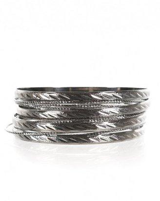 Bebe Diamond Cut Bangles