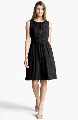 Jenny Yoo 'Charlie' Pleat Chiffon A-Line Dress