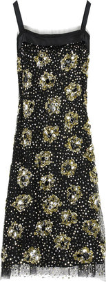 Milly Sequined shift dress