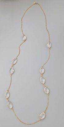 Lisa Stewart Clear Crystal Necklace